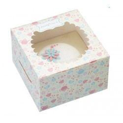 Caja de Cartón Decorada para Un Cupcake - 4 unidades
