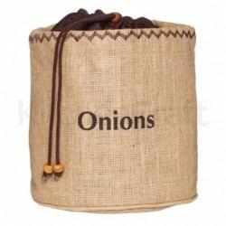 Bolsa de arpillera para cebollas