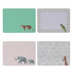 Salvamanteles Rectangular Animales - 4 unidades