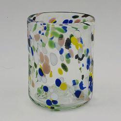 Vaso de Cristal Artesano - Multicolor
