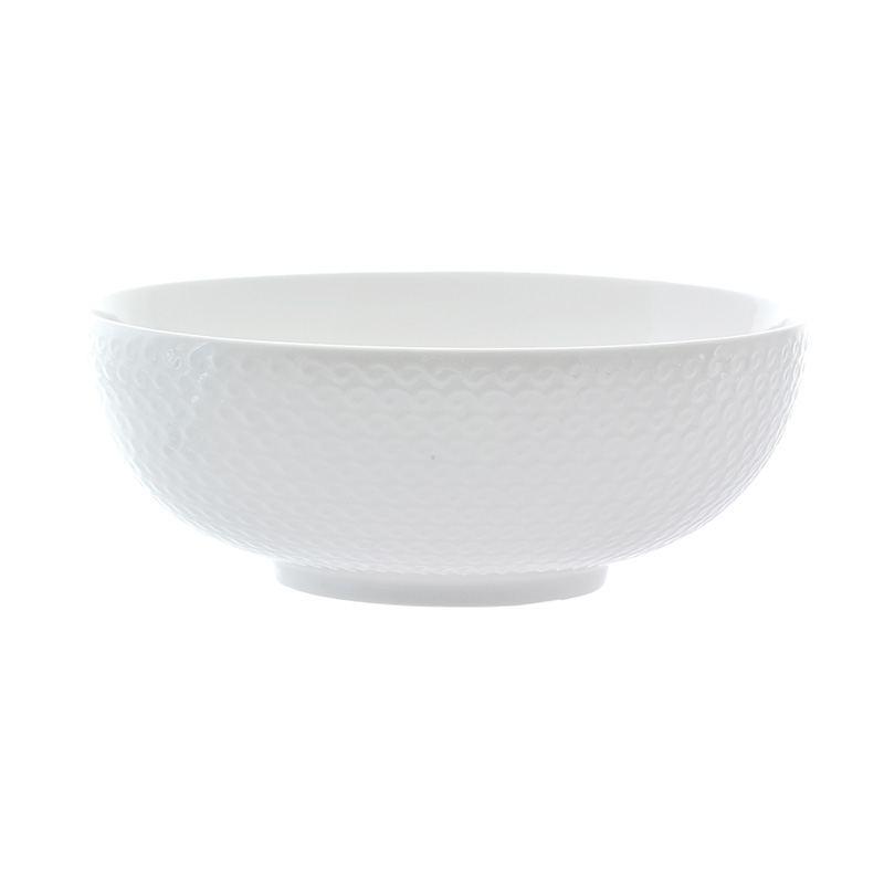 Ensaladera Porcelana Blanca Relieve