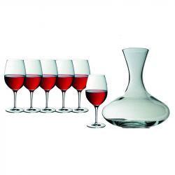 Copas de Vino Burdeos y Decantador