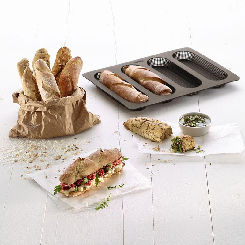 Molde para pan mini baguette lekue