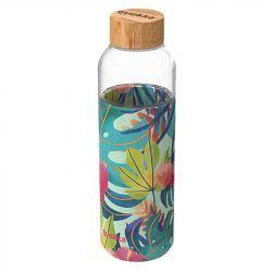 Botella de Cristal con Funda de Silicona 660 ml - Varios Diseños