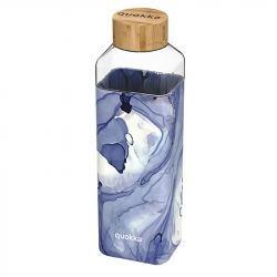 Botella Cristal Cuadrada con Funda Silicona