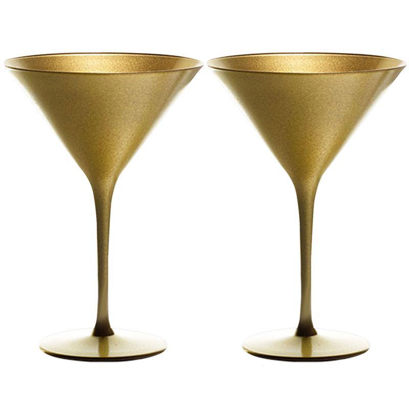 Copa Cóctel y Martini Dorada