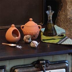 Kit Cocina Mediterránea I: Aceitera, Tarro Ajos y Salero