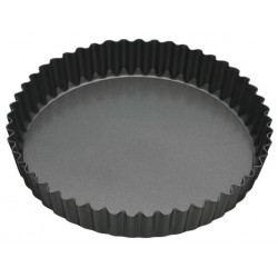 Molde de Tarta o Quiche Antiadherente con Base Extraible y  Borde Rizado
