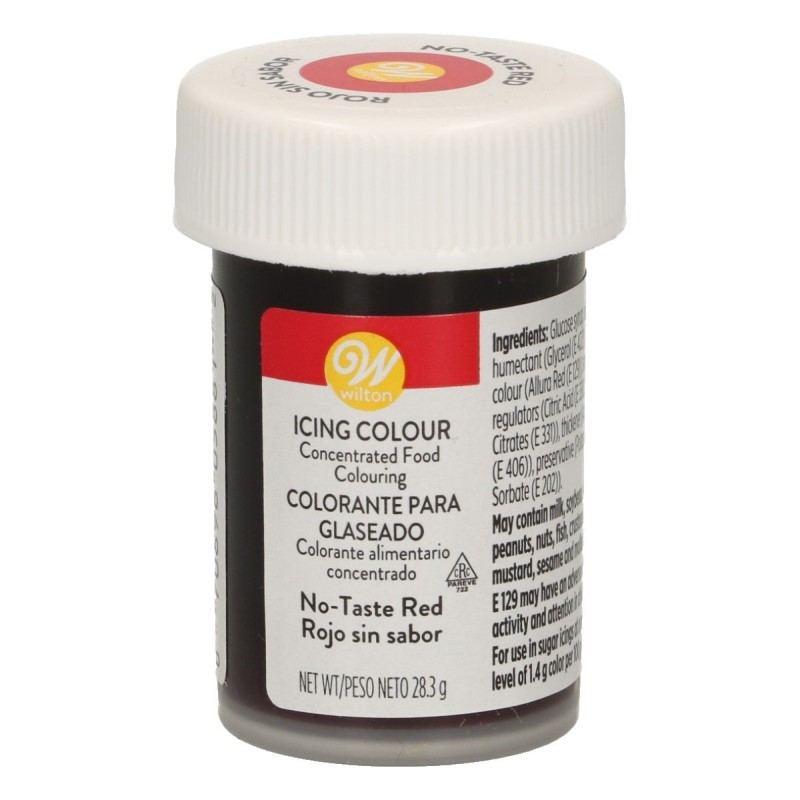 Colorante rojo sin sabor