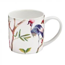 Taza de Porcelana con Diseño Oriental
