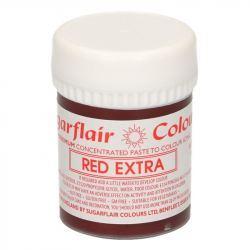 Colorante en Pasta Concentrado Sugarflair Extra Rojo 42 gr,