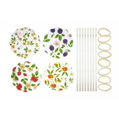 "Cubierta Textil para Conservas ""Flores y Abejas"""