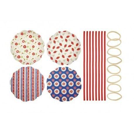 "Cubierta Textil para Conservas ""Flores Retro"""