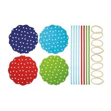 "Cubierta Textil para Conservas ""Lunares"""