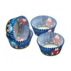 Cápsulas de Papel para Cupcake o Magdalena - Diseño Coches 60uds