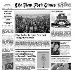 10 Hojas Periódico New York Times