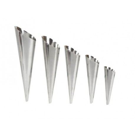 Molde para canutillos en acero inoxidable, acero inoxidable varios tamaños