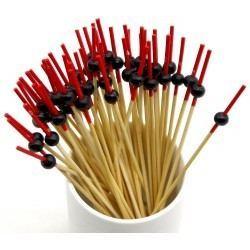 24 Brochetas de Bambú para Aperitivo - Varios Diseños