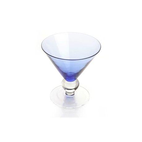 Copa Cónica Cristal Azul