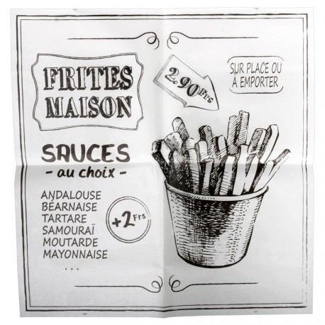Papel Absorbente para Fritos 30x30 cm. - 20 hojas