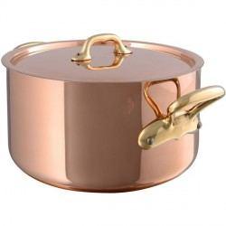 Cacerola de cobre con tapa