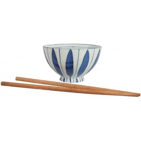 Set de 2 Boles y Palillos Japan Blue