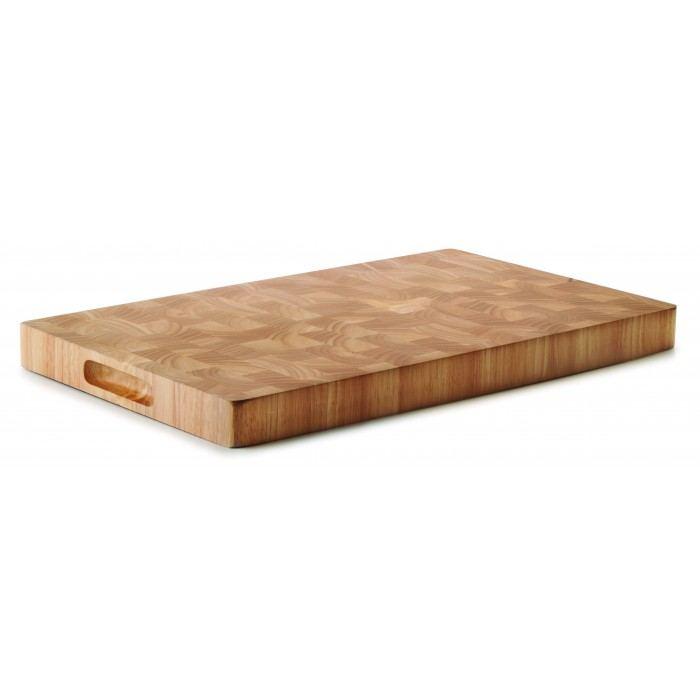 Tabla de madera de caucho