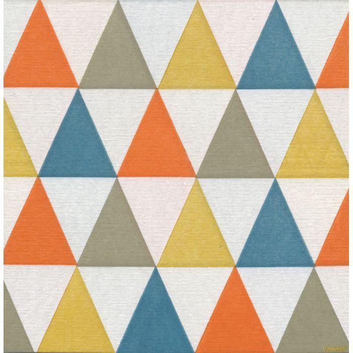 Servilletas de Papel con triángulos de colores