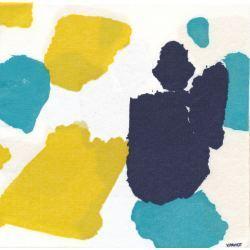 Servilletas de Papel en azul y amarillo