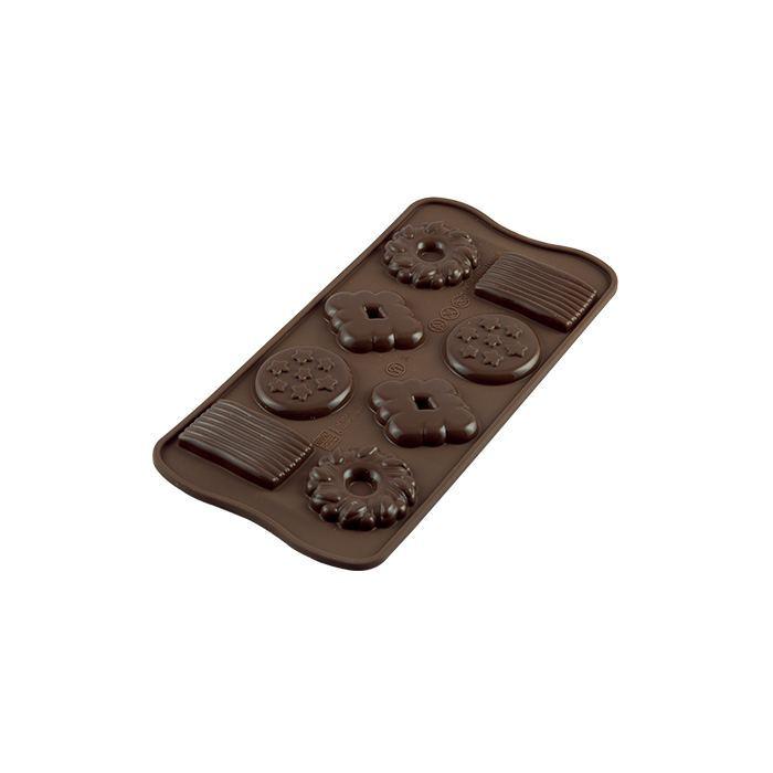 Molde Chocolatina en forma de Galletas de Chocolate