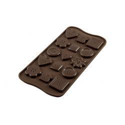 Molde para Botones de Chocolate en Silicona
