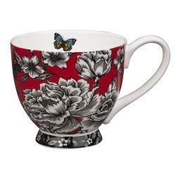 Tazón Mariposa y Flores Portobello