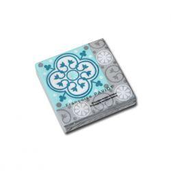 Servilletas de Papel con Azulejos Gris Turquesa