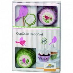 Cápsulas y decoraciones para cupcake Primavera