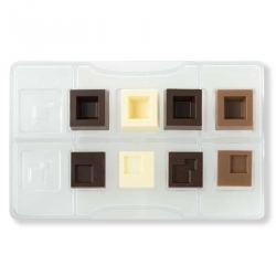 Molde para Bombones de Chocolate Cuadrado Modular