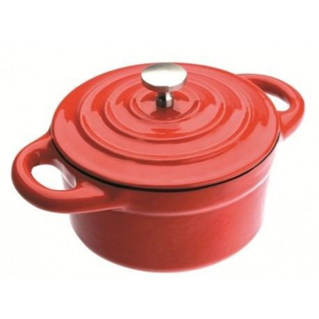 mini cocotte de hierro roja