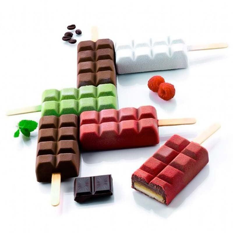 Molde de Helado en forma de tableta de chocolate