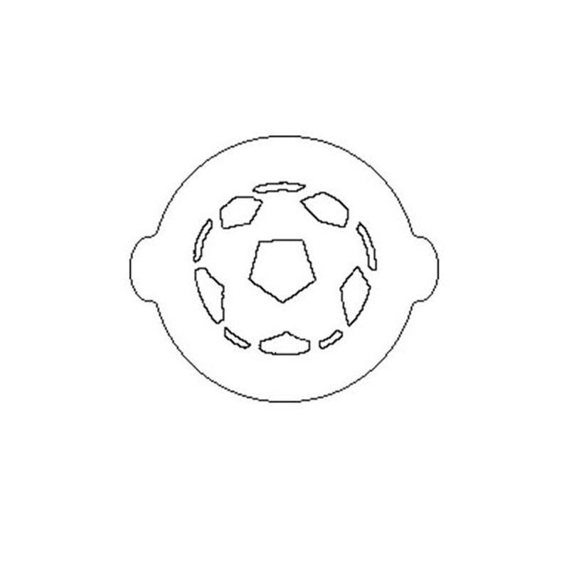Plantilla o Stencil en forma de Balón para decorar tartas y bizcochos