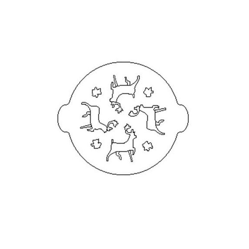 plantilla o Stencil en forma de Reno para decorar tartas y bizcochos