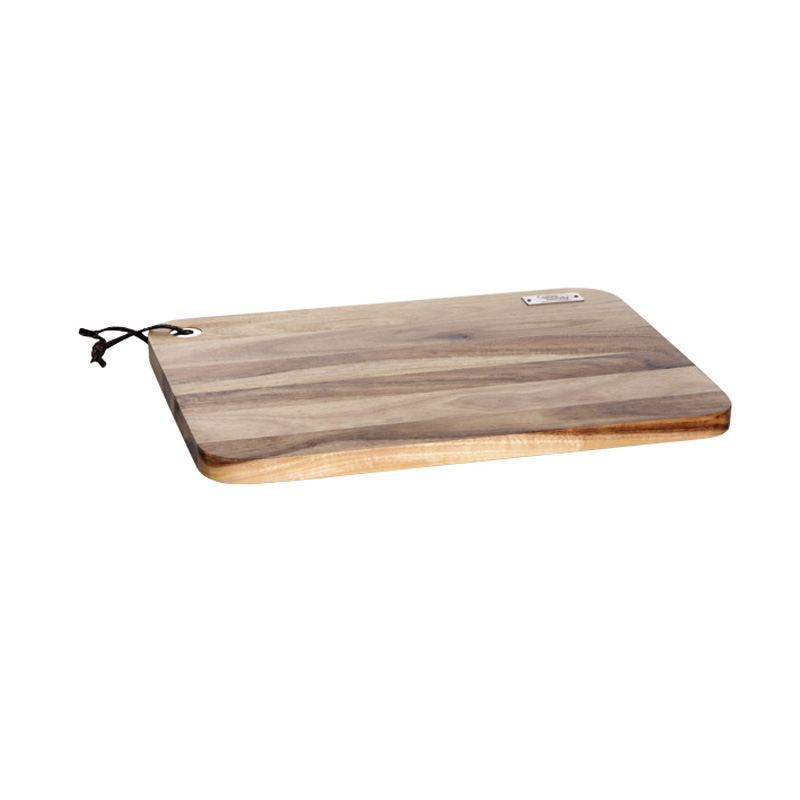 Tabla de madera de acacia rectangular