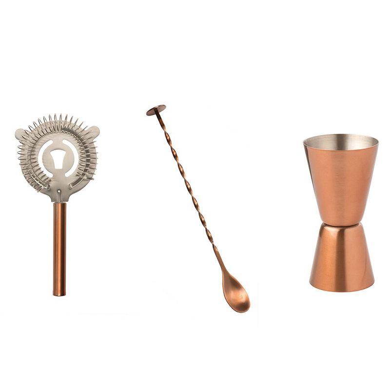 Set de Accesorios para Coctelería de Cobre