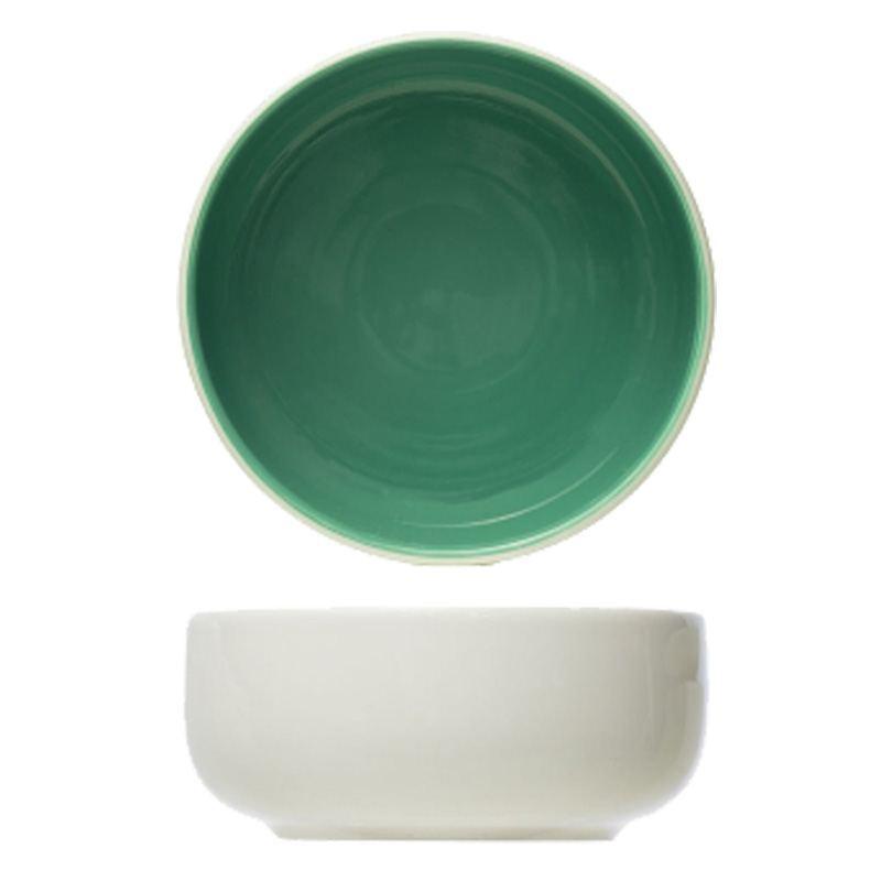 Bol bicolor blanco y verde