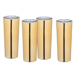 Vaso alto chupito dorado - 4 unidades
