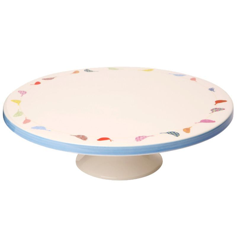 Pie de Tarta Porcelana Pajaritos
