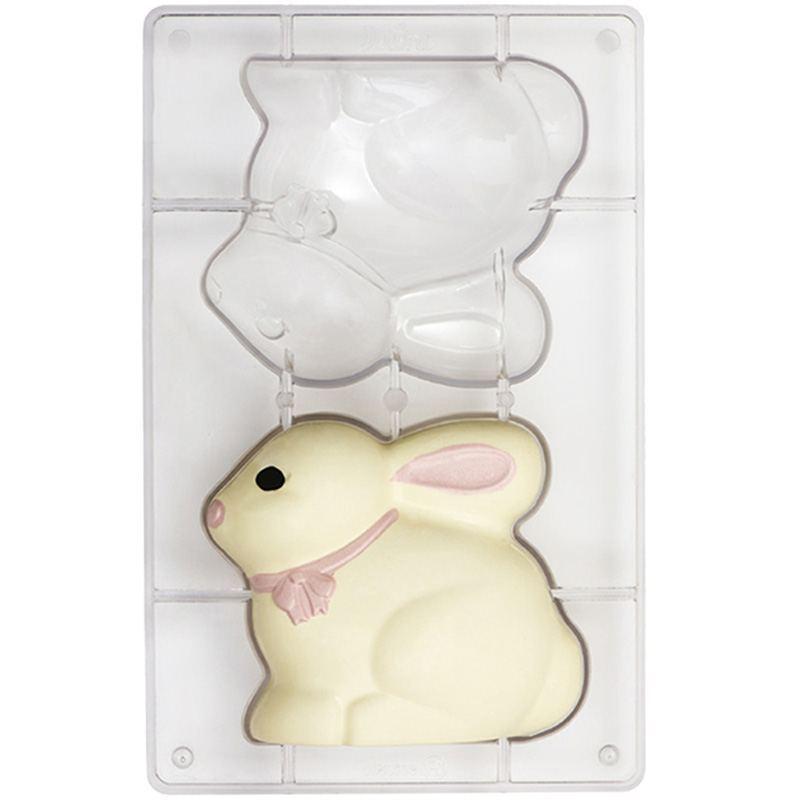 Molde para Chocolate de Policarbonato forma Conejo