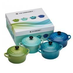 Pack 4 Mini Cocotte Le Creuset - Verde y Azul
