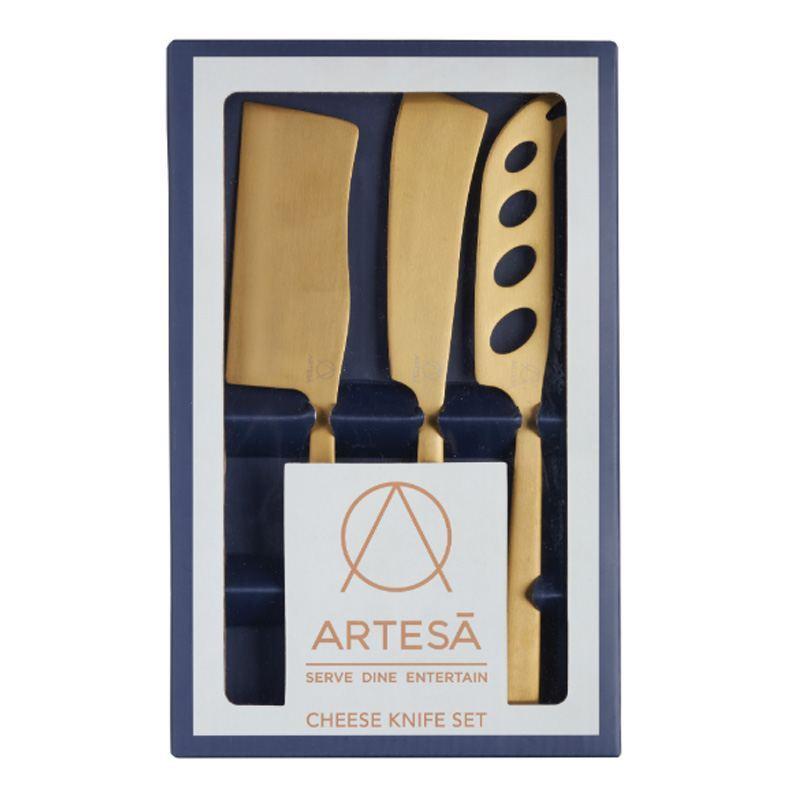 Cuchillos para Quesos Dorados - Set 3 Unidades