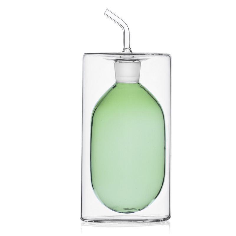 Aceitera Cristal Doble Pared 250 ml - Varios Colores