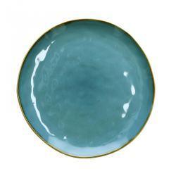 Plato Llano Gres Azul