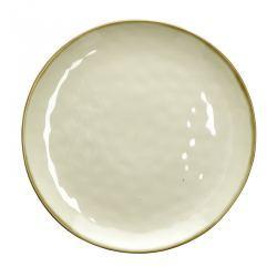 Fuente para Servir de Gres Circular Crema